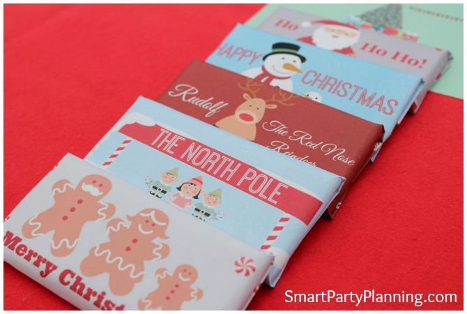 Adorable Christmas chocolate bar wrappers