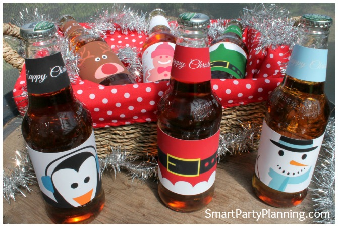 Hamper full of Christmas Beer Labels