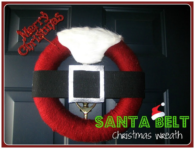 Santa suit Christmas wreath