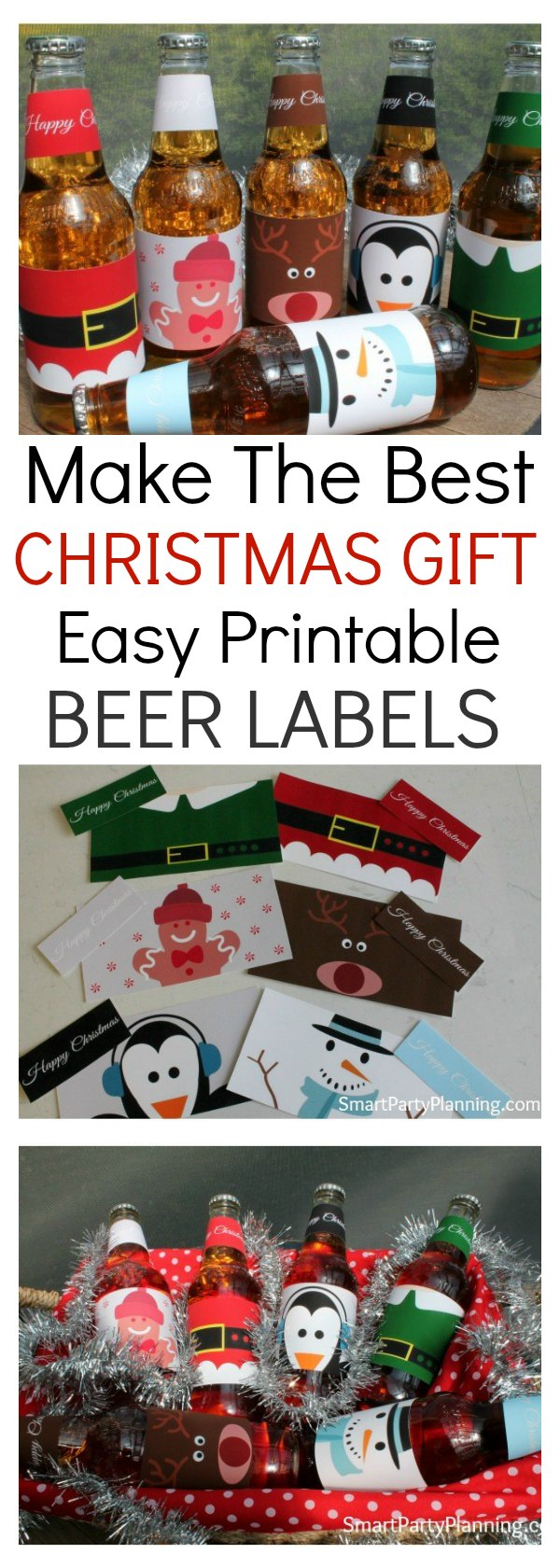 Printable beer labels are the perfect gift idea for your man this Christmas. It is quick and easy to prepare and you know it is going to be something he will love. For a cost effective, easy, different gift idea this definitely ticks all the box's. Alternatively, they would look fantastic at a Christmas party or to enjoy a cool beverage on Christmas day. Either way, these cute Christmas beer labels will be sure to be a hit.