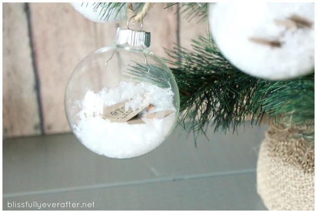 DIY Glass Christmas Bauble