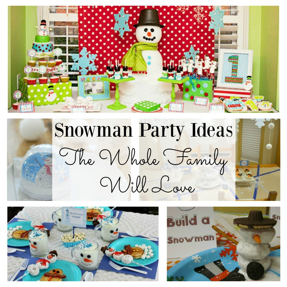 Looking for some fun snowman party ideas for the kids? There is something here that the whole family will love.  Whether you need a snowman breakfast or a winter birthday idea, there is something to suit your needs and budget. The party favors at idea #3 must be checked out!