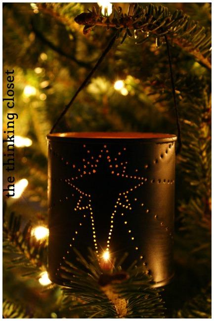 Handmade Christmas Tin Can Lantern