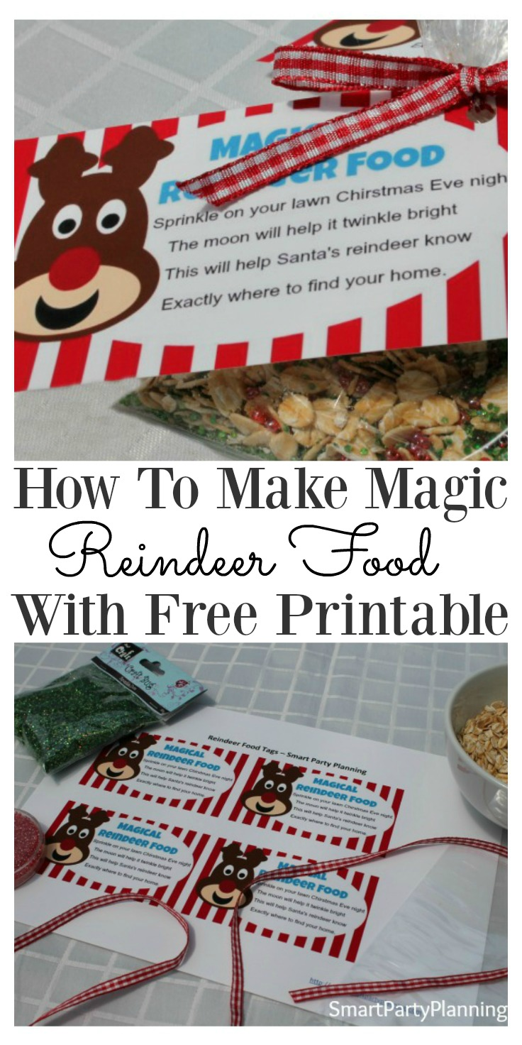 picture regarding Reindeer Food Poem Printable named Magic Reindeer Meals