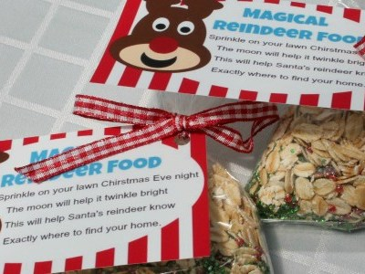How To Make Magic Reindeer Food With Free Printable