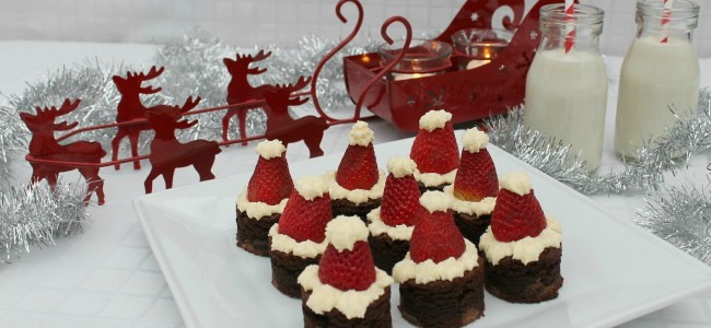 santa-hat-brownies