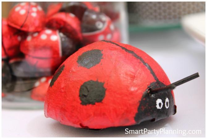 Ladybug chocolates