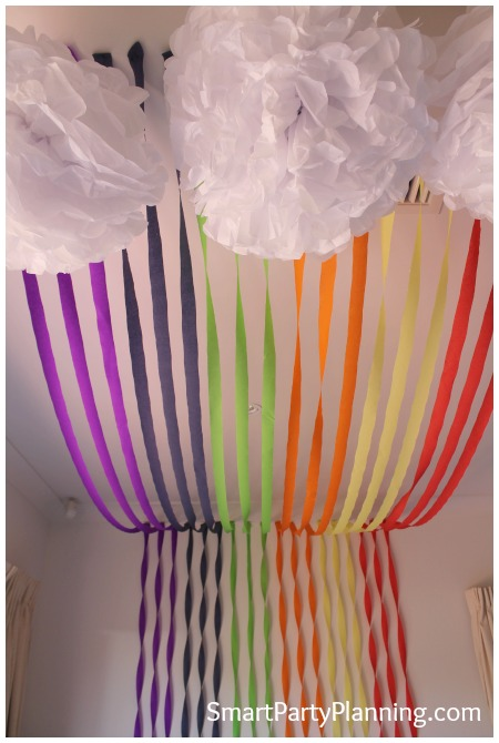 Rainbow party decoration