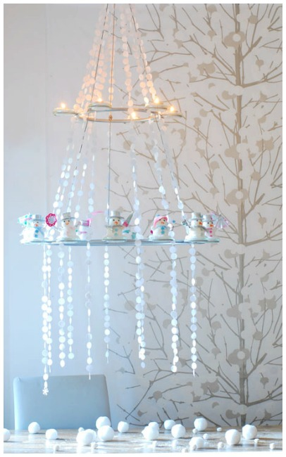 Winter wonderland chandelier