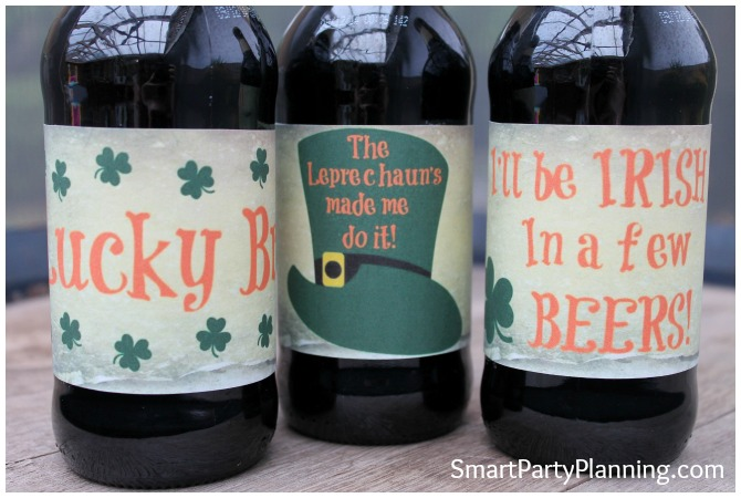 3 designs of homebrew beer labels
