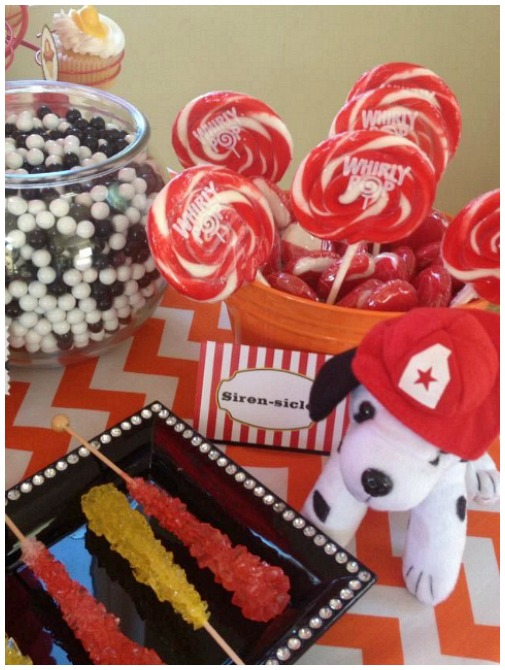 Firetruck party candy