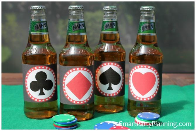 Card Suit Beer Labels