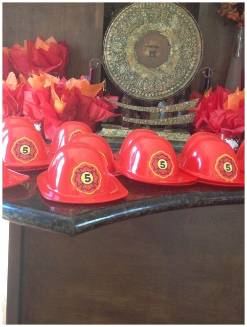 Fireman party hats