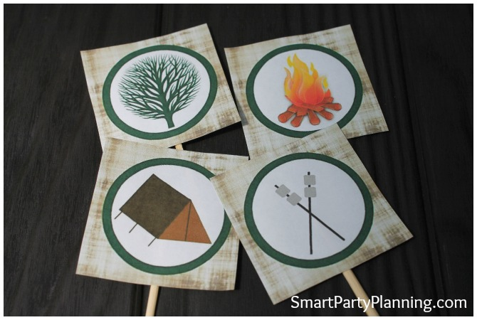 Camping Party Tags