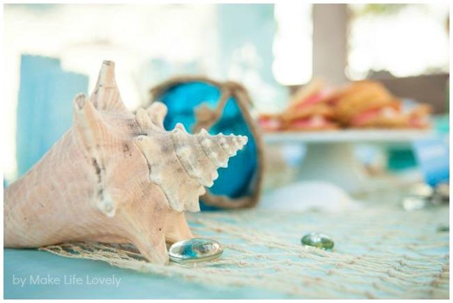 Under the sea theme shells decoration