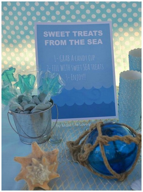 Under the sea sweet treats sign
