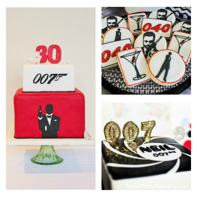 Collage of James Bond Party Ideas