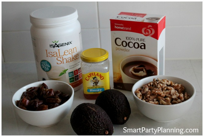 Ingredients used in the chocolate fudge recipe