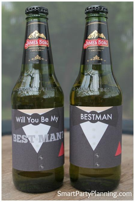 Best Man Beer Labels