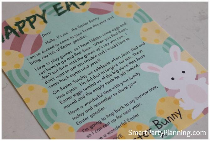Christian Easter Bunny Letter
