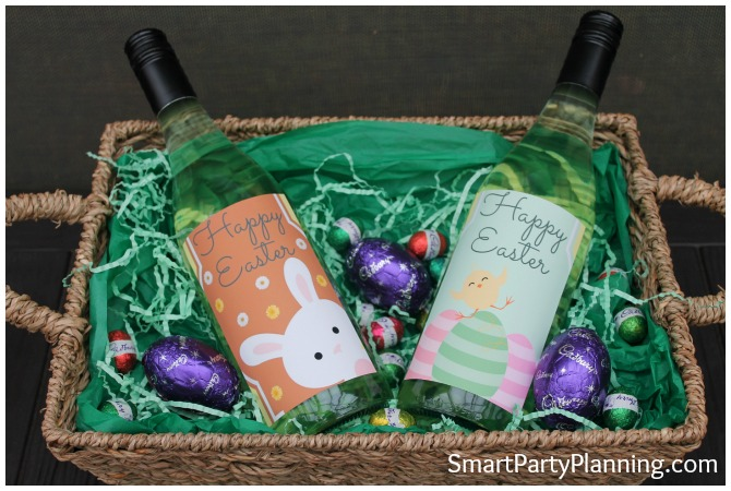 Easter wine bottle labels festive times of the year are perfect to getting your craft on there negle Images