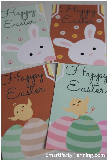 Printed and cut Easter wine bottle labels