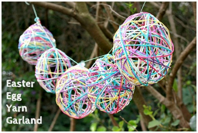Easter-craft-yarn-egg-garland