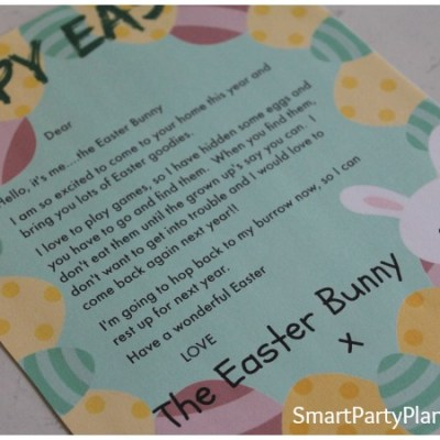 FREE Easter Bunny Letter The Kids Will Love