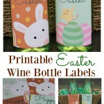 4 Easter wine bottle labels