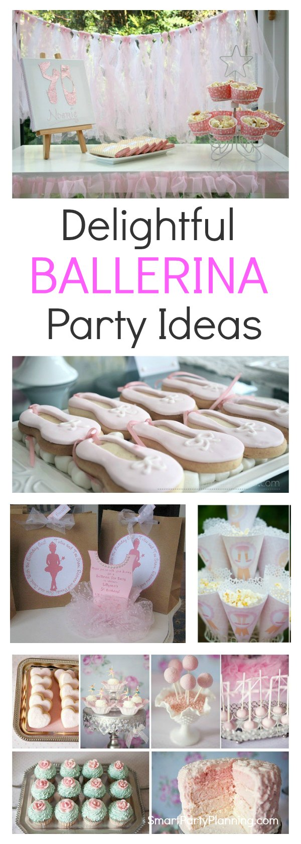 For an angelic little girl, she will love these ballerina party ideas.  With ideas for party styling with easy décor and food, this is one of those parties you will remember forever. Whether it's a first birthday or a tenth birthday, there is something magical about a ballerina party and all the girls will love it.  Get ready for a splash of pink and lots of tutu's.
