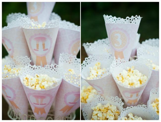 Ballerina Party Popcorn