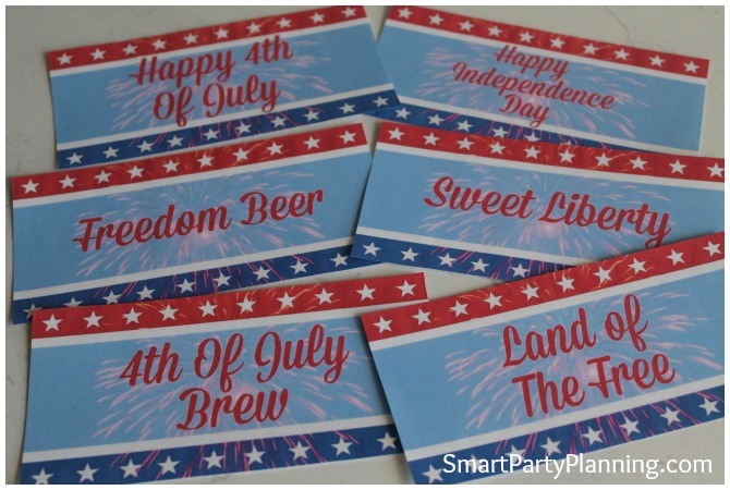 Printed set of 4th of July printables