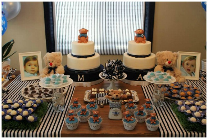 Teddy Bear Birthday Party Table Display