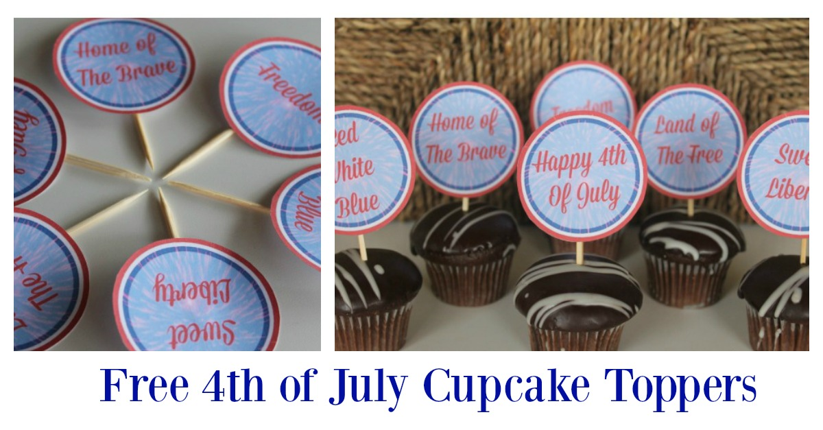 These free 4th of July printables are perfect to use as cupcake toppers for the 4th of July celebrations. They are easy to organize and are a great way to provide a spark of color to your party decoration and your food table. With a free download, they are just waiting for you to grab. The matching set of printable's are pretty awesome too!