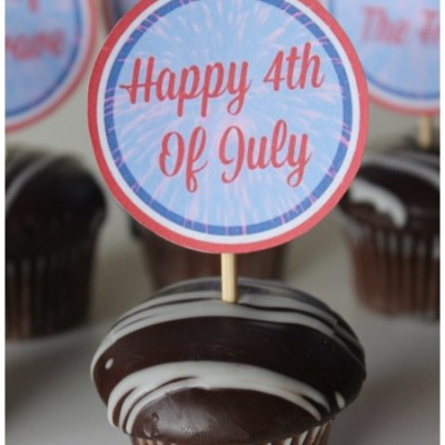 FREE 4th of July Cupcake Toppers For Easy Party Decor