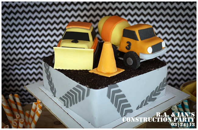 Construction Birthday Party Cake