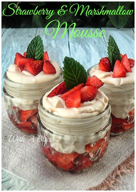 Strawberry and Marshmallow Mousse
