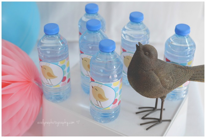 Bird Printable Water Bottle Labels