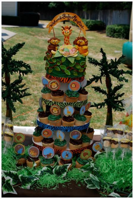 Safari Cupcake Tower