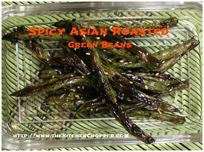 Spicy Asian Roasted Green Beans