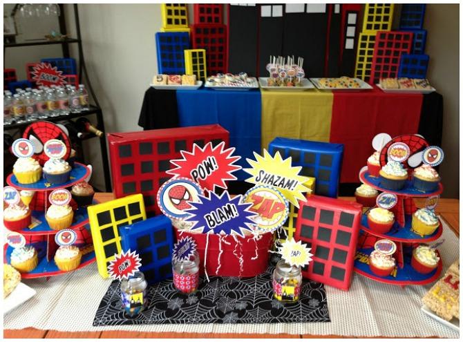 Popping Spiderman Birthday Party