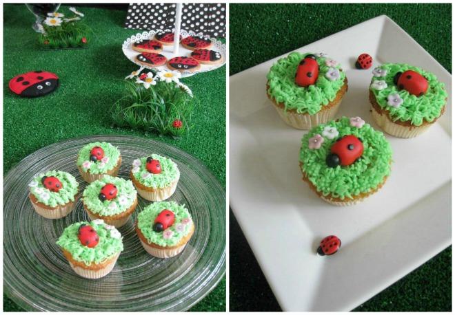 Ladbug Cupcakes