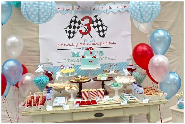 Racing Car Party Table