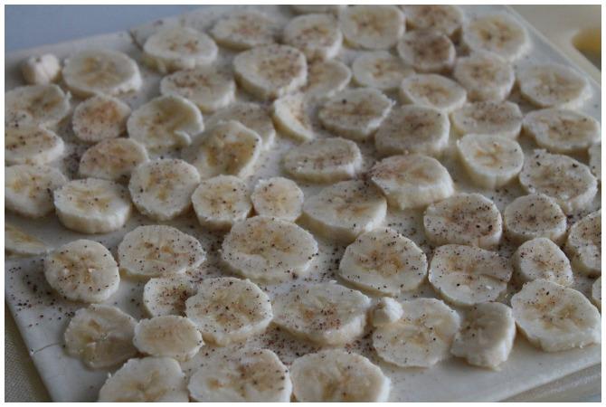 chopped up bananas