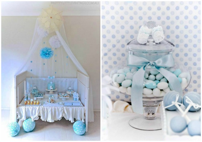 Raindrop Baby Shower Desserts