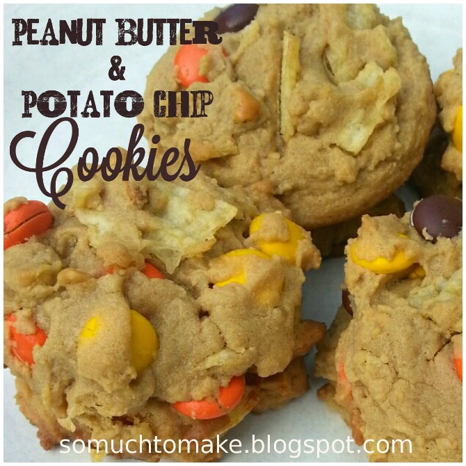 Peanut butter and potato chip cookies
