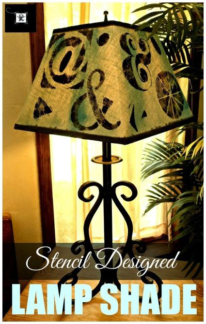 stenil designed lamp shade