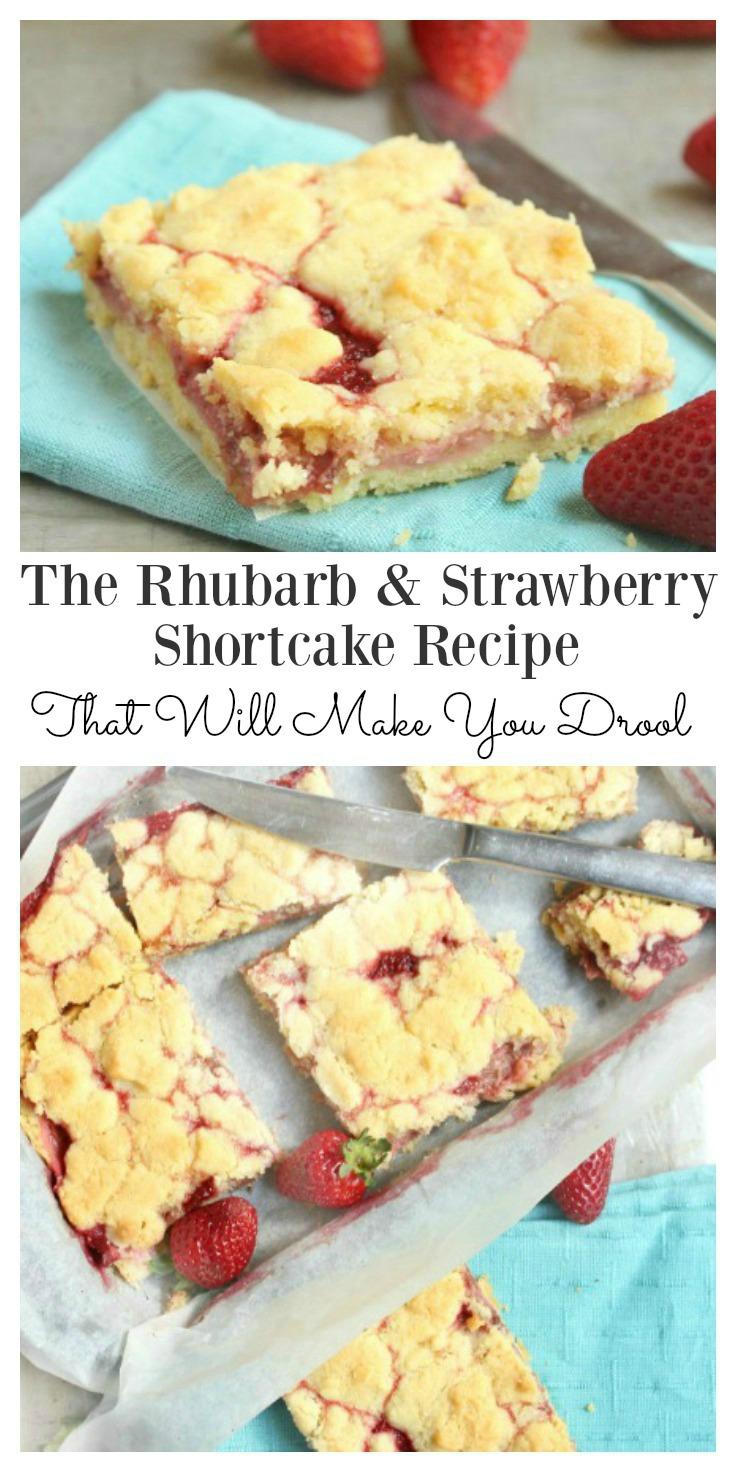 Rhubarb & strawberry shortcake recipe