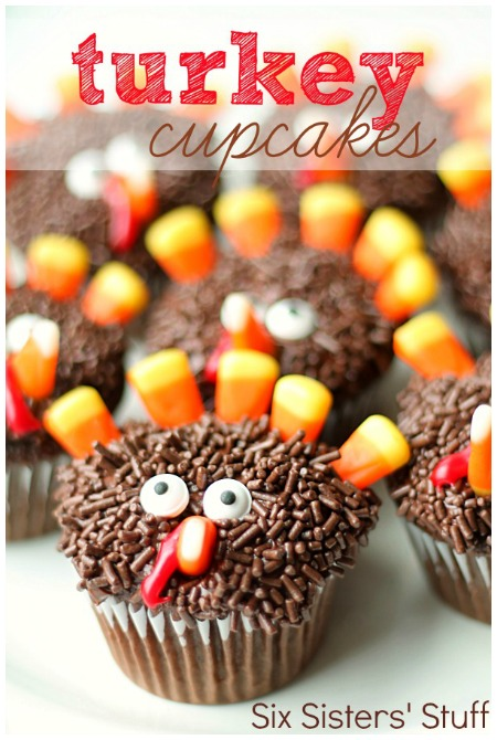 Thanksgiving Turkey Cupcakes Recipe