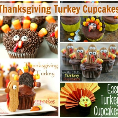 Fun Thanksgiving Turkey Cupcakes